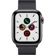 apple watch series 5 44mm gps + cellular met milanaise armband zwart