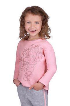 """trigema sweatshirt met """"tijger""""-printmotief roze"""