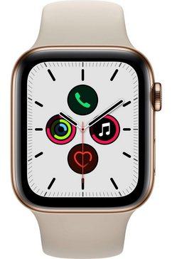 apple watch series 5 gps + cellular, edelstalen kast met sportbandje 44 mm beige