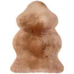 heitmann felle vloerkleed van imitatiebont »lammfell farbig«, heitmann felle, fellfoermig, hoehe 70 mm, gegerbt beige