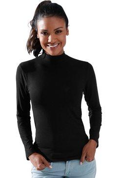 waeschepur shirt met lange mouwen zwart