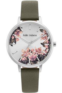 julie julsen kwartshorloge »blossom silver khaki, jjw1211sl-14« groen
