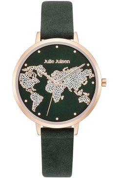 julie julsen kwartshorloge »world rosé emerald, jjw1202rgl-16« groen