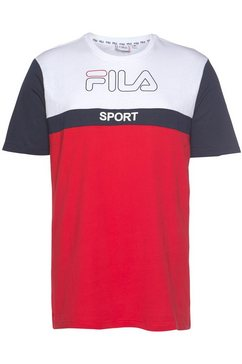 fila t-shirt »manning block tee« wit