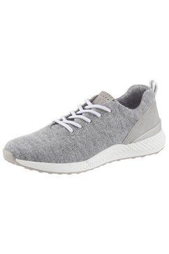marco tozzi sneakers met sleehak grijs