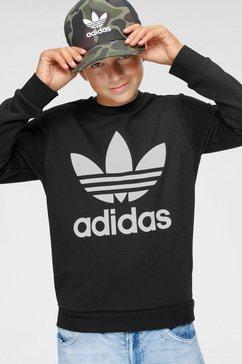 adidas originals sweatshirt »trefoil crew« zwart