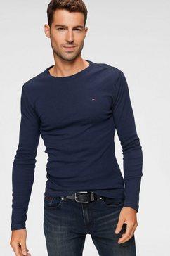 tommy jeans shirt met lange mouwen »tjm original rib longsleeve tee« blauw