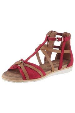 tamaris romeinse sandalen »sidra« rot