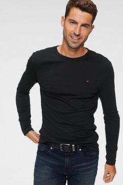 tommy jeans shirt met lange mouwen »tjm original rib longsleeve tee« zwart