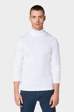 tom tailor shirt met lange mouwen »shirt met lange mouwen en turtleneck« wit