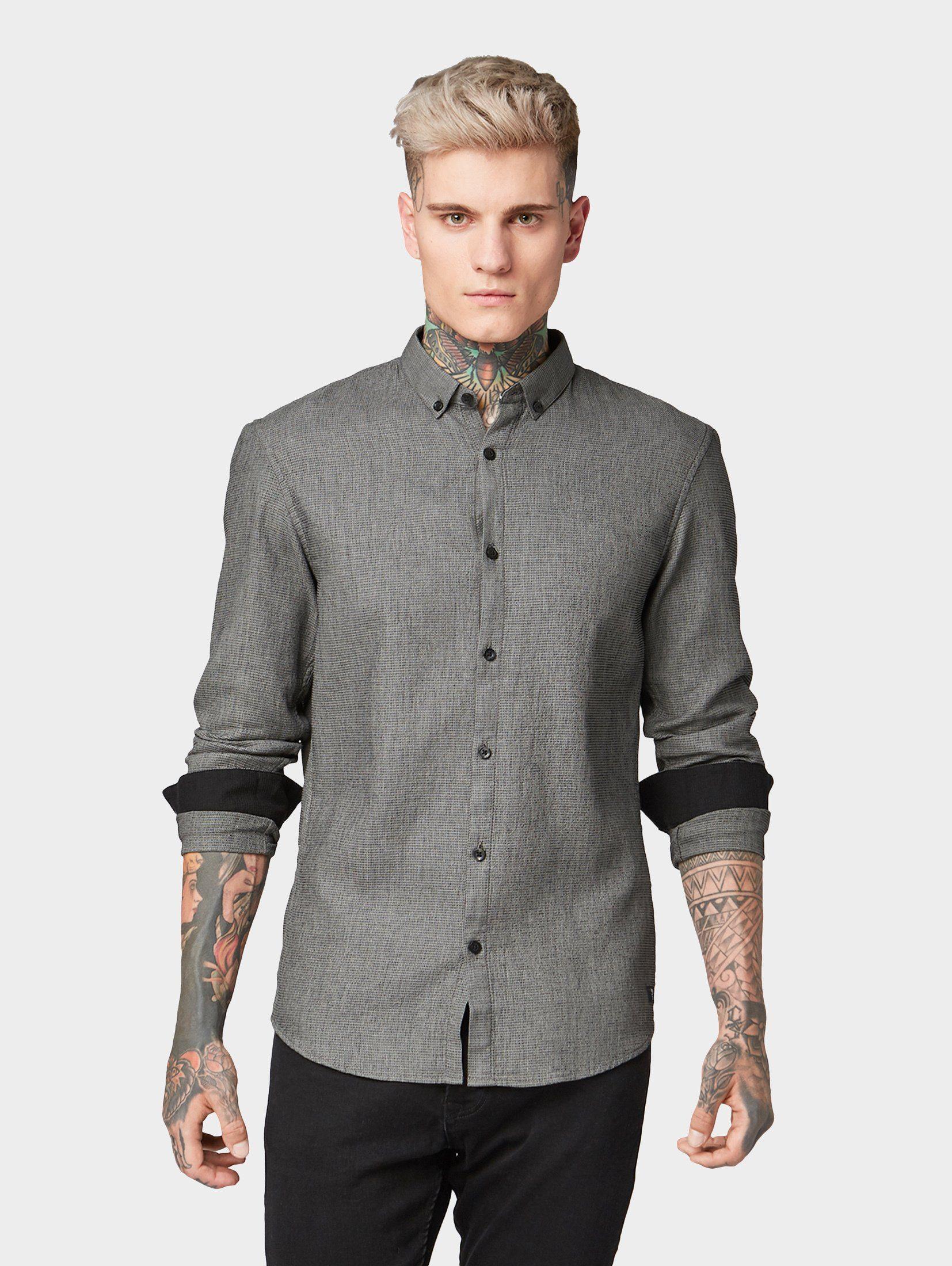 overhemd »Hemd mit Strukturmuster«