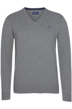 gant trui met v-hals grijs