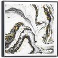 reinders! artprint op linnen leinwandbild marmor glamouroes - modern - stilvoll (1 stuk) goud