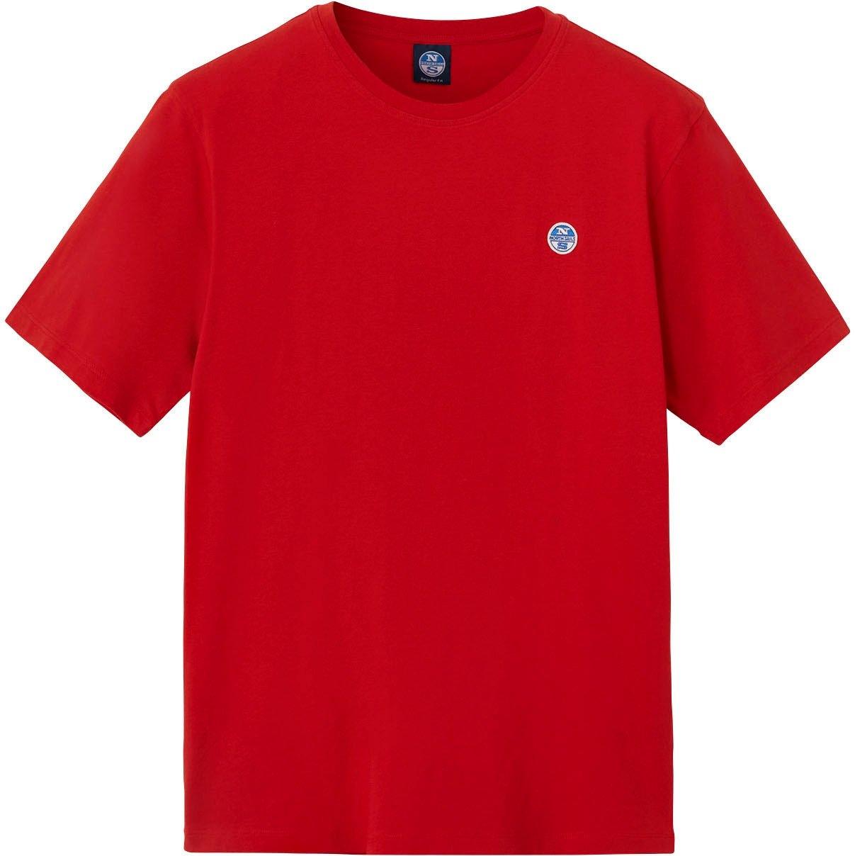 North Sails T-shirt met kleine applicatie voordelig en veilig online kopen