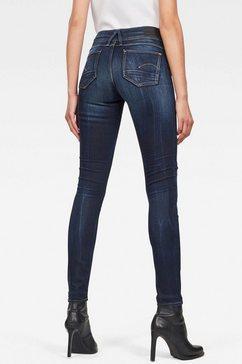 g-star raw skinny jeans »lynn mid skinny« blauw