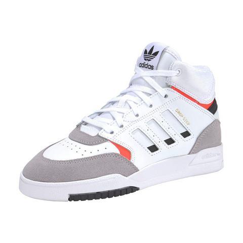 adidas originals Drop Step leren sneakers wit-lichtgrijs-rood