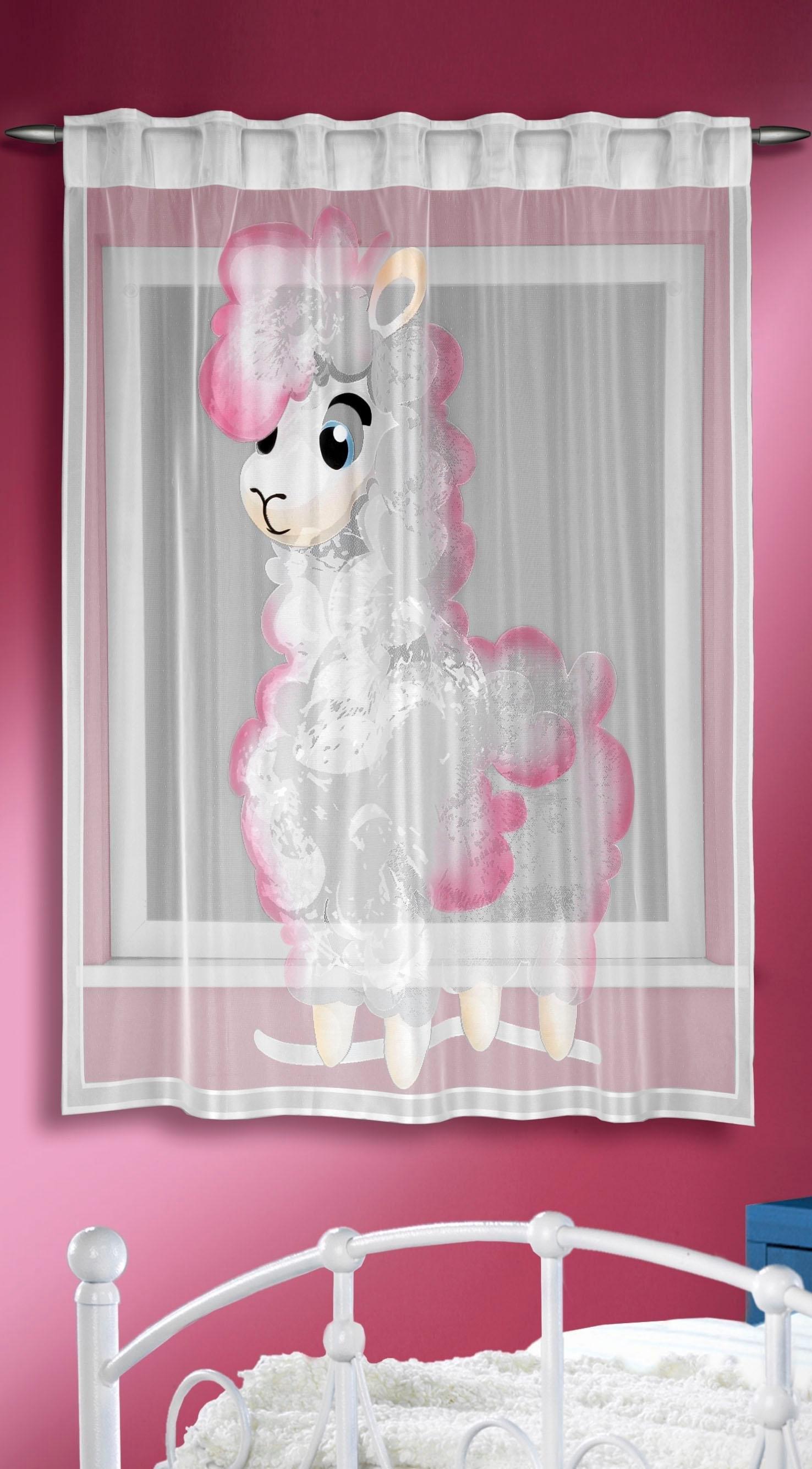 WILLKOMMEN ZUHAUSE by ALBANI GROUP gordijn Bergen HxB: 160x140, sjaal met verborgen lussen (1 stuk) nu online kopen bij OTTO