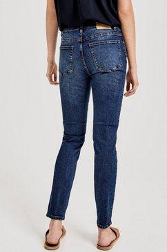 opus skinny fit jeans »evita« blauw