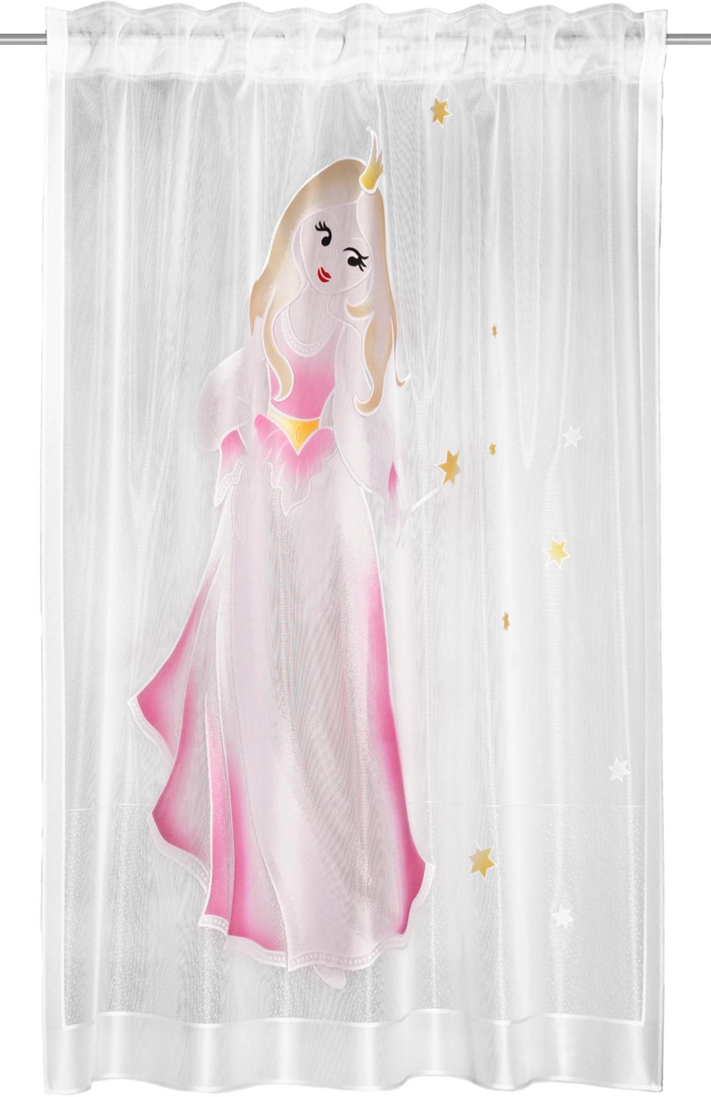 WILLKOMMEN ZUHAUSE by ALBANI GROUP gordijn Barby HxB: 160x140, sjaal met verborgen lussen (1 stuk) bij OTTO online kopen