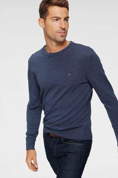 tommy hilfiger trui met ronde hals »organic cotton silk crew neck,« blauw