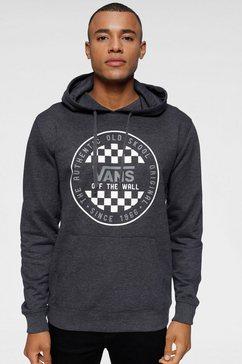 vans hoodie »checker« grijs