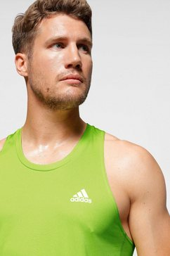 adidas performance runningtop »otr singlet 3 stripes« groen