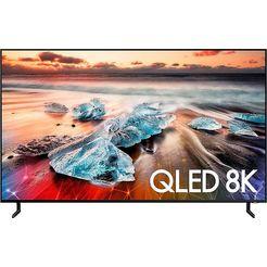 samsung gq55q950rgtxzg qled-tv (138 cm - 55 inch), 8k, smart-tv zwart