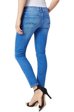 pepe jeans skinny jeans »cher« blauw