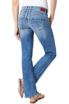 pepe jeans straight-jeans »gen« blauw