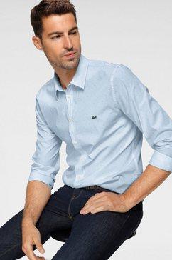 lacoste overhemd met lange mouwen blauw