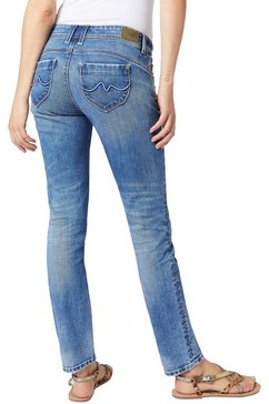 pepe jeans slim fit jeans »new brooke« blauw