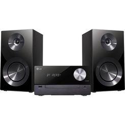 lg »cm2460dab« micro-hifi-set (bluetooth, digitale radio (dab+), 100 watt) zwart
