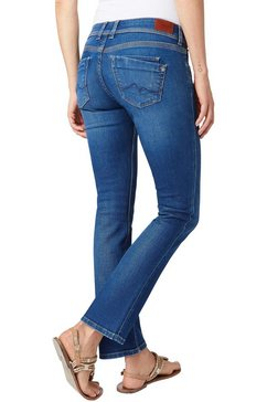 pepe jeans straight jeans »saturn« blauw