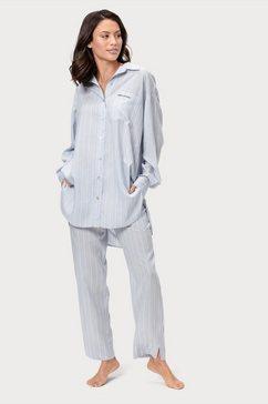 marc o'polo pyjamabroek met streepdessin blauw