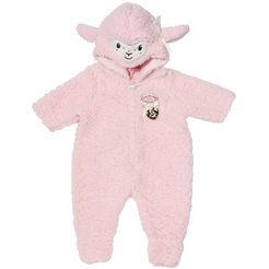 baby annabell »deluxe schaf overall« poppenkleding roze