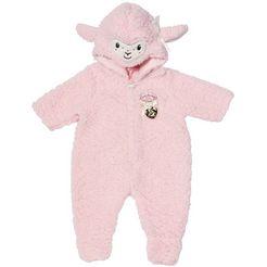 baby annabell poppenkleding deluxe schaap jumpsuit roze