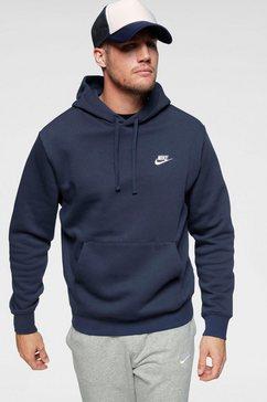 nike sportswear hoodie »m nsw club hoodie po bb« blauw