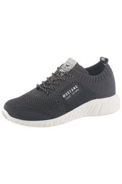 mustang shoes sneakers in trendy tricot-look zwart