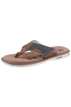 mustang shoes teenslippers met zacht teenbandje blauw