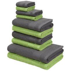 handdoekenset, »afri«, my home (set) groen