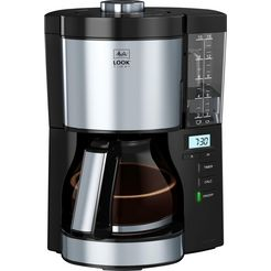 melitta »look v timer 1025-08 schwarz« filterkoffieapparaat zwart