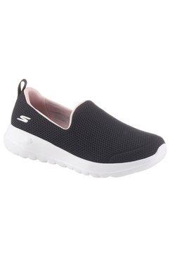 skechers slip-on sneakers »go walk joy - fiesta« zwart
