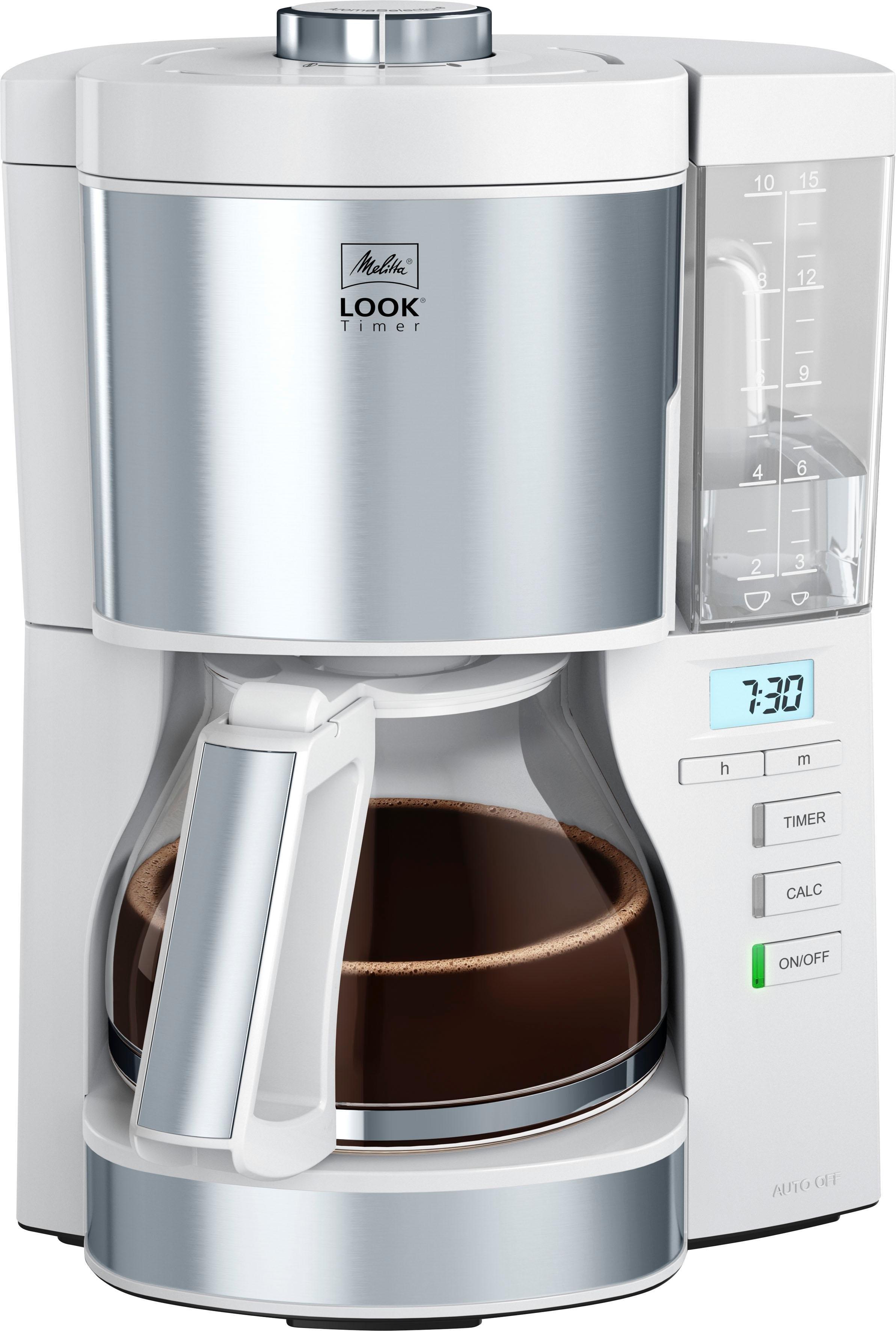 Melitta filterkoffieapparaat Look V Timer 1025-07 wit, 1,25 l in de webshop van OTTO kopen