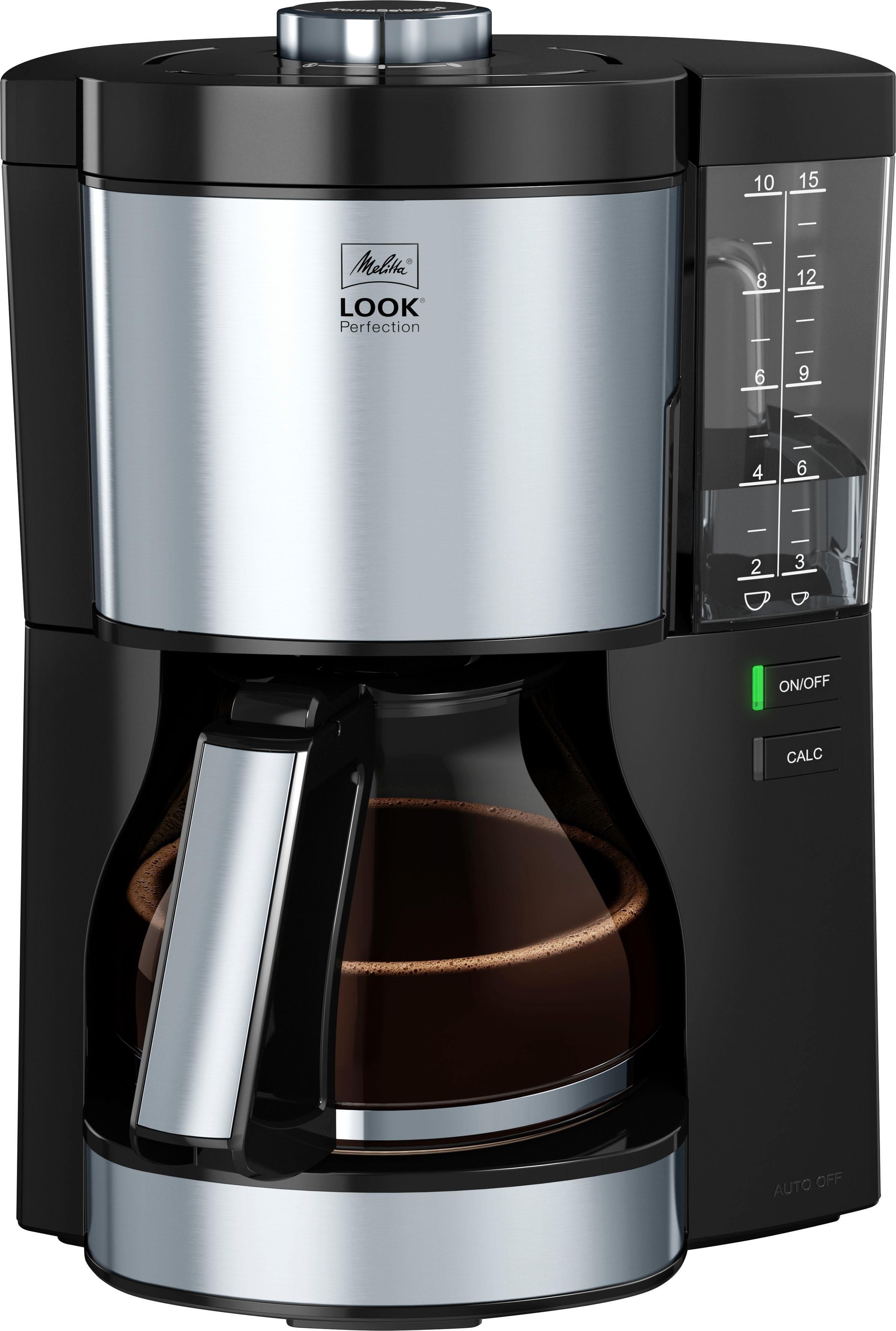 Melitta filterkoffieapparaat Look V Perfection 1025-06 zwart, 1,25 l nu online bestellen