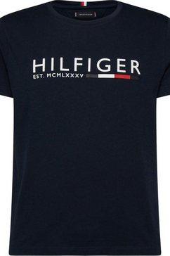 tommy hilfiger t-shirt »corp hilfiger stripe tee« blauw