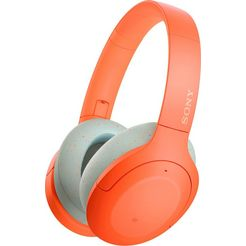 sony »wh-h910n« over-ear-koptelefoon (google assistant, bluetooth) oranje