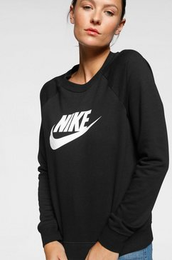 nike sportswear sweatshirt »w nsw essntl crew flc hbr« zwart