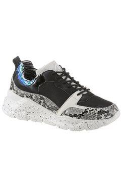 bullboxer sneakers met sleehak zwart