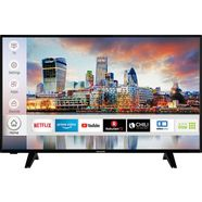 hanseatic 43h600uds led-tv (108 cm - 43 inch), 4k ultra hd, smart-tv zwart