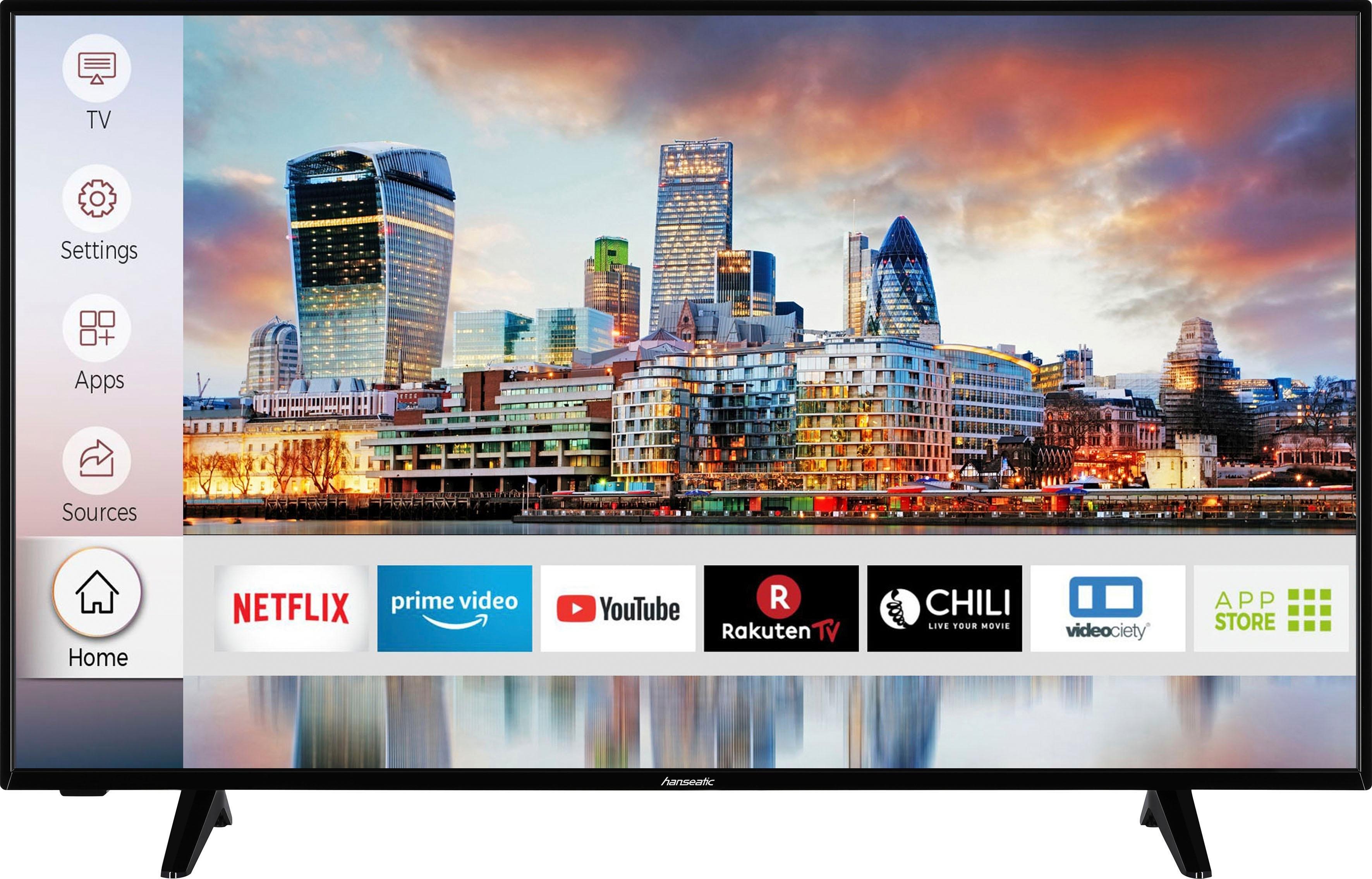 Hanseatic 50H600UDS led-tv (126 cm / 50 inch), 4K Ultra HD, smart-tv nu online kopen bij OTTO